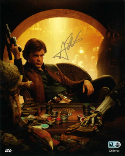 Alden Ehrenreich As Han Solo 8X10 SAUTOGRPAHED IN 'GOLD' INK PHOTO