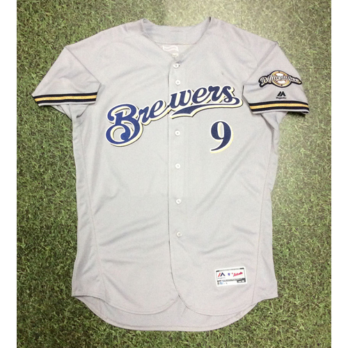 Photo of Manny Pina 2018 Game-Used Opening Day Jersey