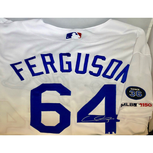 Photo of Caleb Ferguson Authentic Autographed Los Angeles Dodgers Jersey- Newcombe - Size 48