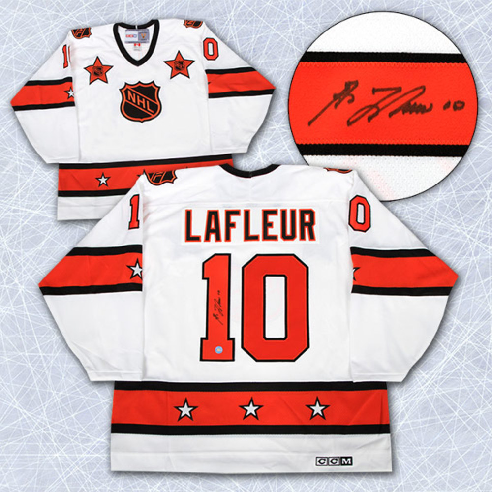 5485e393c Guy LaFleur NHL All Star Game Autographed Retro CCM Hockey Jersey  Montreal  Canadiens