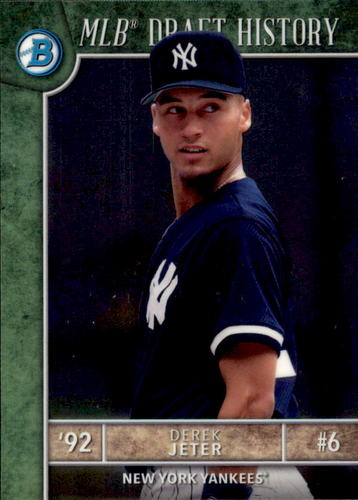 Photo of 2017 Bowman Chrome Draft MLB Draft History #MLBDDJ Derek Jeter