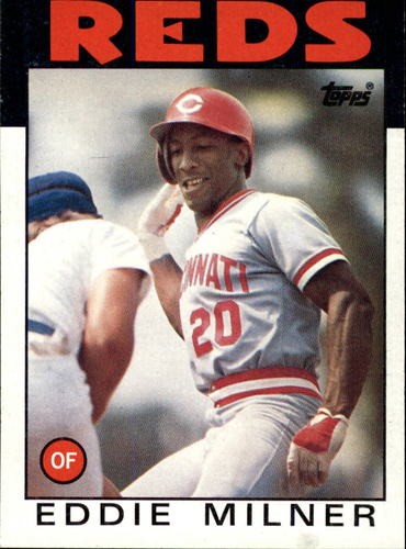 Photo of 1986 Topps #544 Eddie Milner