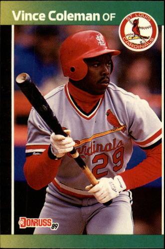 Photo of 1989 Donruss #181 Vince Coleman