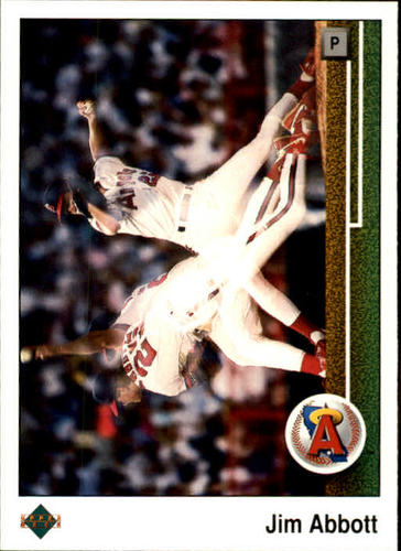 Photo of 1989 Upper Deck #755 Jim Abbott RC/Triple exposure