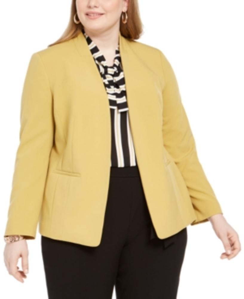 Photo of Bar Iii Trendy Plus Size Open-Front Blazer
