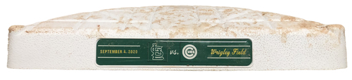 Photo of Game-Used 3rd Base -- Used in Innings 1 through 9 -- Cardinals vs. Cubs -- 9/4/20