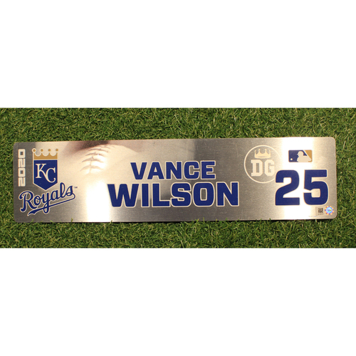 Photo of Game-Used Locker Tag: Vance Wilson #25 (DET @ KC 9/24/20)