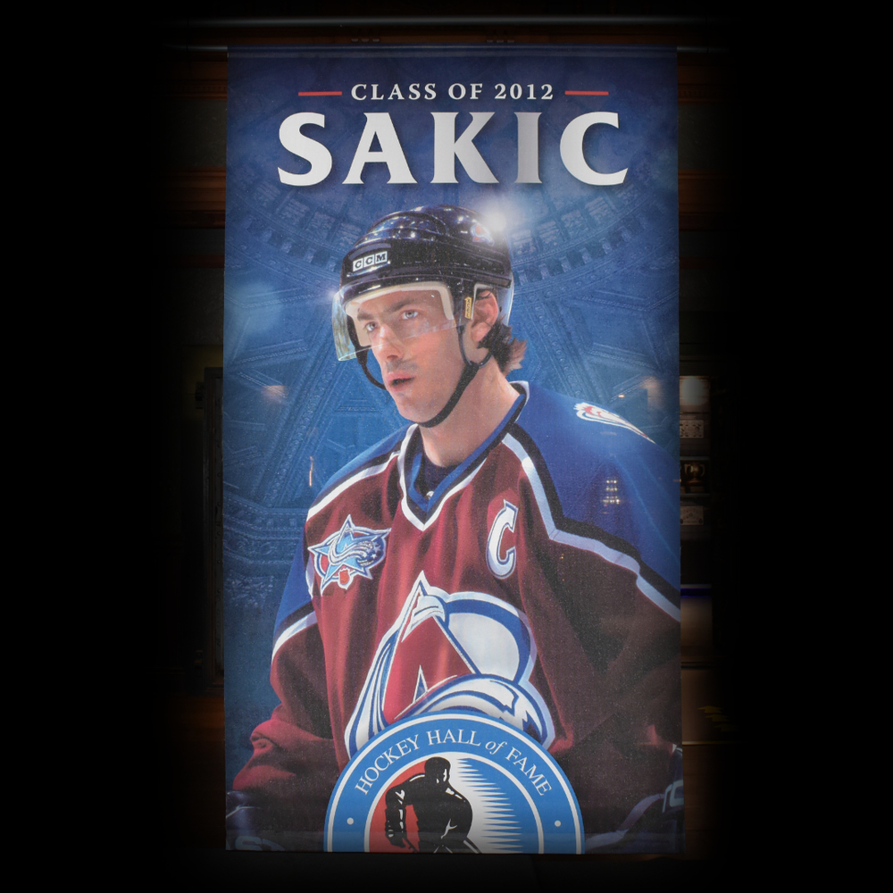 Joe Sakic Hockey Hall of Fame Class of 2012 Banner (5ft x 9ft) - Limited Edition 1/1