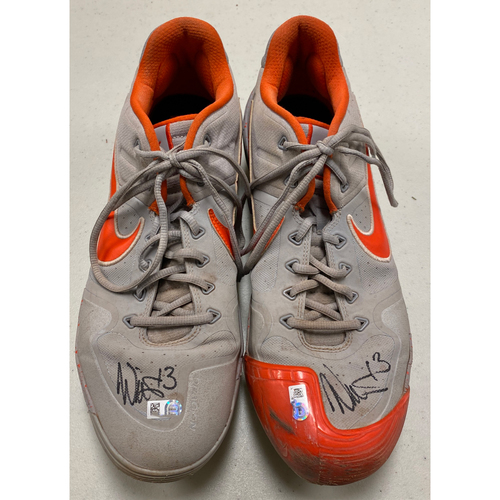 Photo of 2020 Black Friday Sale - #13 Will Smith Autographed Gray & Orange Nike Cleats - Size 13