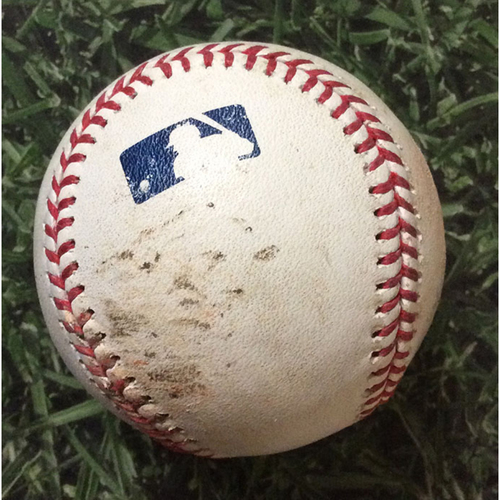 Game-Used Baseball SF@MIL 07/14/19 - Jhoulys Chacin - Evan Longoria: Single (INCLUDES FREE SHIPPING)