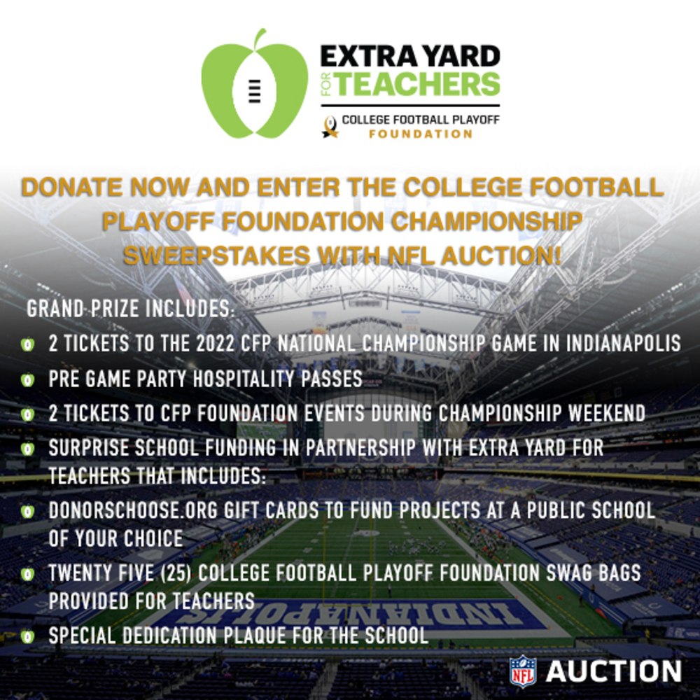 College Football Playoff Foundation National Championship Sweepstakes