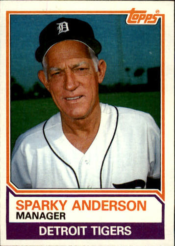 Photo of 1983 Topps #666 Sparky Anderson MG