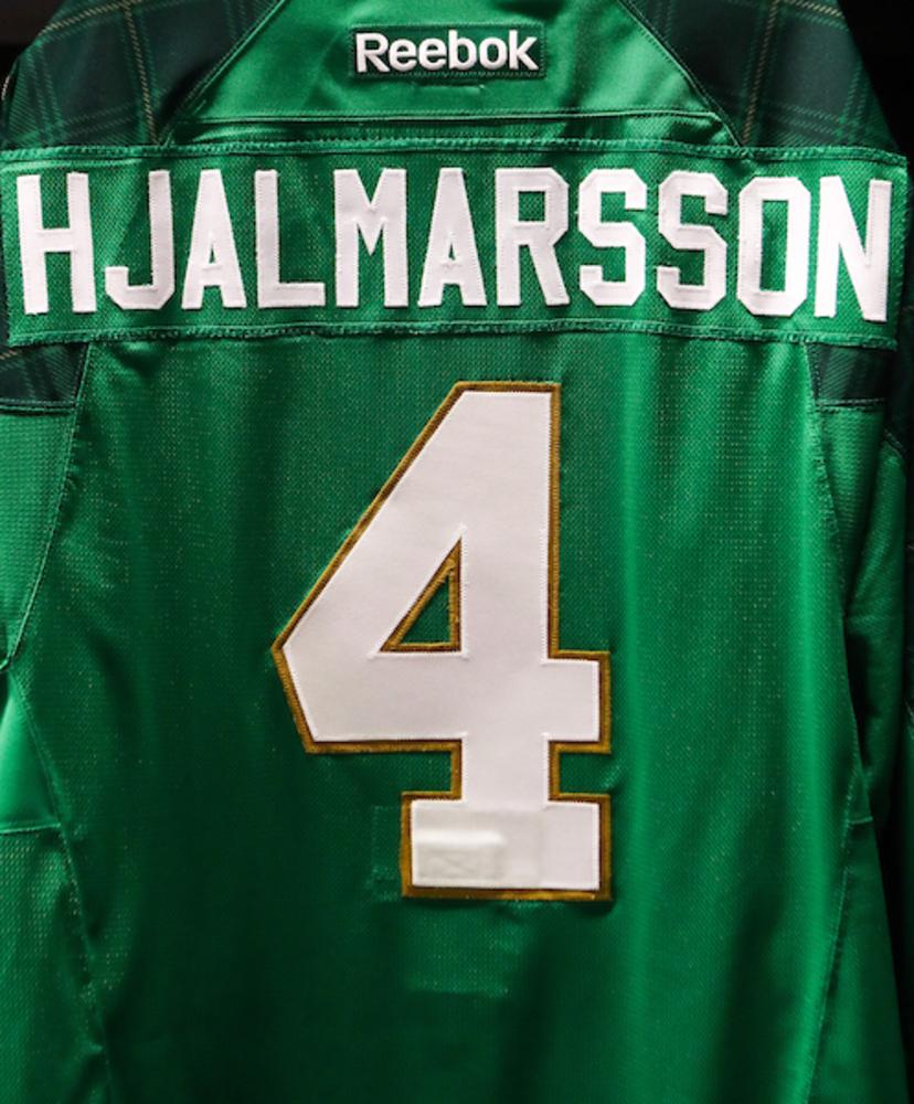 #4 - Niklas Hjalmarsson Autographed Authentic St. Patrick's Day Jersey