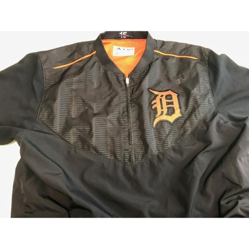 Photo of 2017 Team-Issued Detroit Tigers #15 Road Batting Practice Jacket
