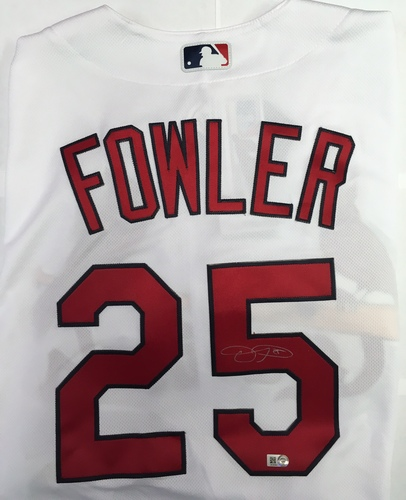 Photo of Dexter Fowler Autographed Authentic Cardinals Jersey