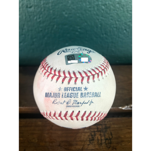Cardinals Authentics: Game-Used Baseball Pitched by Sam Tuivailala to Addison Russell and Ian Happ *Pop out, Double RBI*