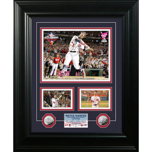 Photo of Serial #1! Bryce Harper 2018 Home Run Derby Champion Silver Marquee Photo Mint
