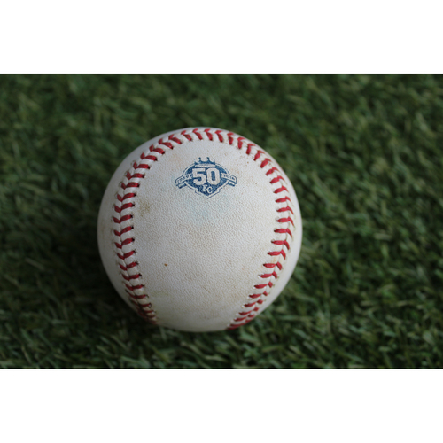Photo of Game-Used Baseball: Jim Adduci 80th Career Hit (DET @ KC - 8/28/2018)