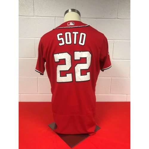 Photo of Juan Soto Game-Used Red Jersey - September 11, 2018
