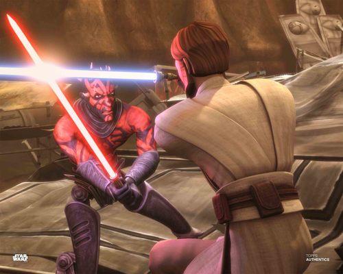 Obi-Wan Kenobi and Darth Maul