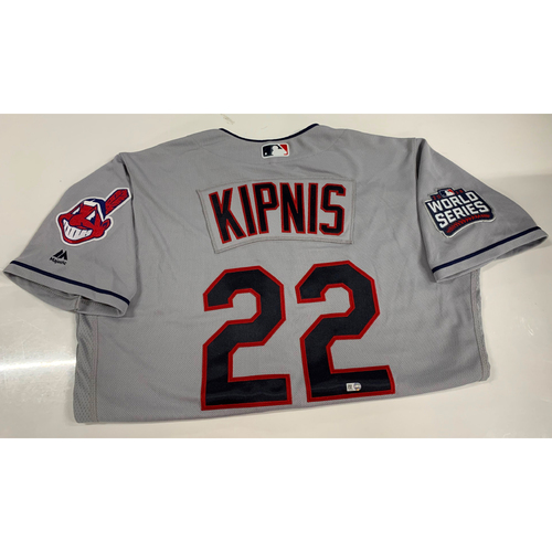 Jason Kipnis Team Issued Road Jersey with 2016 World Series Patch