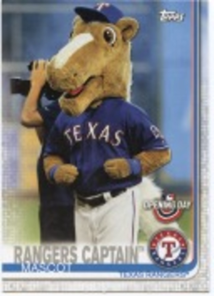 2019 Topps Opening Day Mascots #M12 Rangers Captain