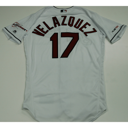 Andrew Velazquez 2019 Team Issued Home White Jersey