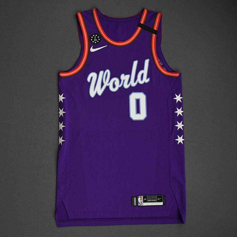 Nickeil Alexander-Walker - 2020 NBA Rising Stars - Team World - Game-Worn 1st Half Jersey
