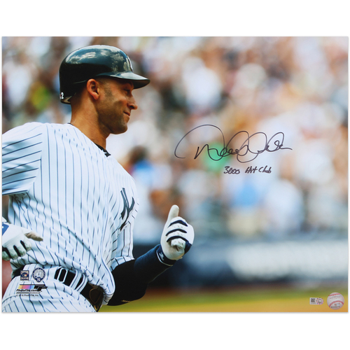 "Photo of Derek Jeter Autographed 16x20 Photo - Inscribed ""3000 Hit Club"""