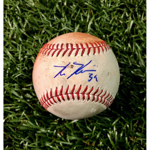 Photo of Game Used Baseball: Kevin Kiermaier triple off Carlos Carrasco - September 12, 2018 v CLE