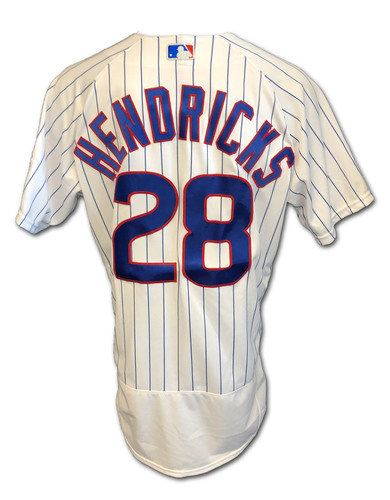 Photo of Kyle Hendricks Game-Used Jersey -- Cardinals vs. Cubs -- 9/7/2020 -- Hendricks 5th Win, 8 IP, 1 ER, 4 SO -- Size 46T