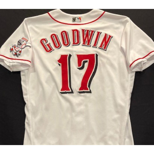 Photo of Brian Goodwin -- 2020 Home White Jersey -- Team Issued -- Size 44