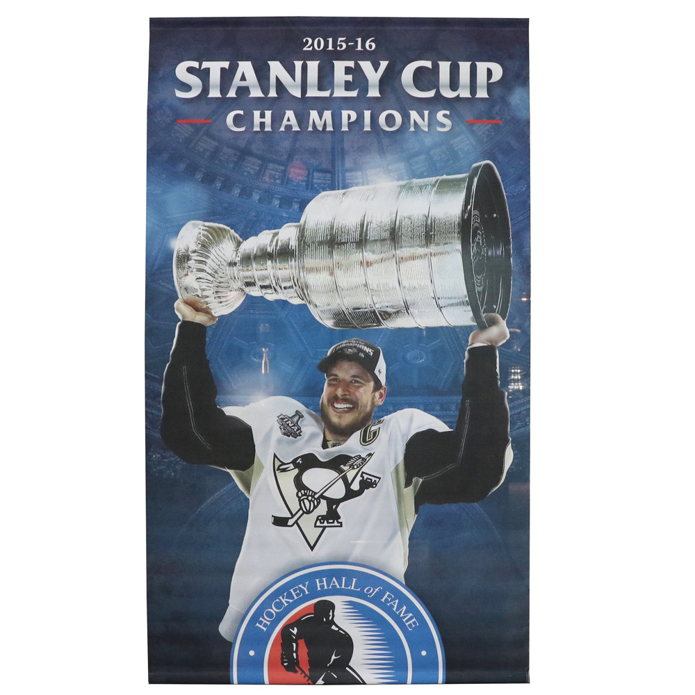 Pittsburgh Penguins Stanley Cup Champions 2015-16 Banner (5ft x 9ft) Featuring Captain Sidney Crosby - Limited Edition 1/1
