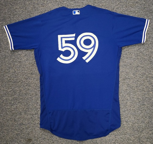Photo of Authenticated Game Used Spring Training Jersey: #59 Josh Palacios (Mar 26, 2021: 0-for-1 2 BB). Size 44.