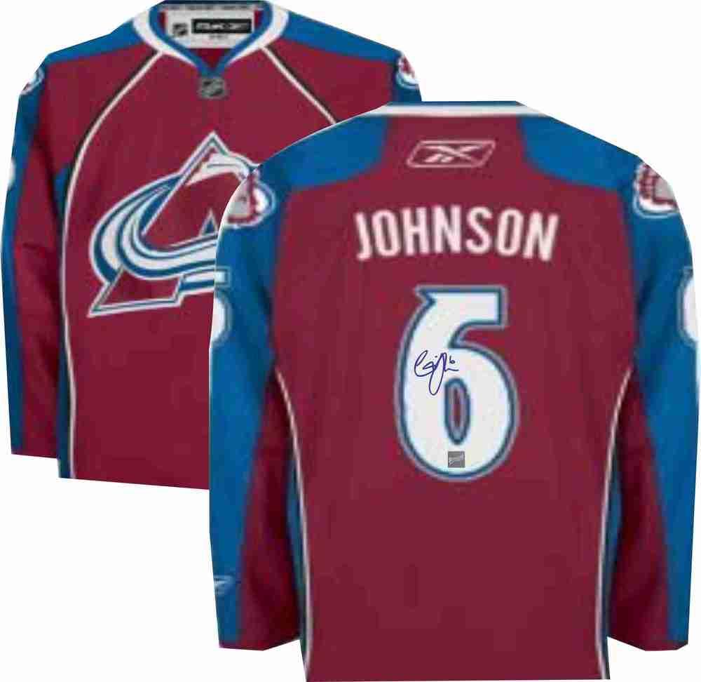 size 40 13daf 0286c Erik Johnson - Signed Colorado Avalanche Jersey - NHL Auctions