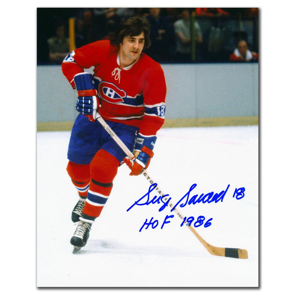 Serge Savard Montreal Canadiens HOF BREAKOUT Autographed 8x10