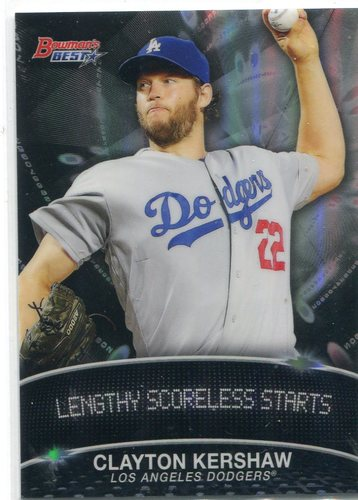 Photo of 2016 Bowman's Best Stat Lines #SLCK Clayton Kershaw