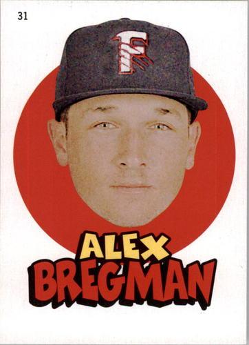 Photo of 2016 Topps Heritage Minors '67 Topps Stickers #31 Alex Bregman
