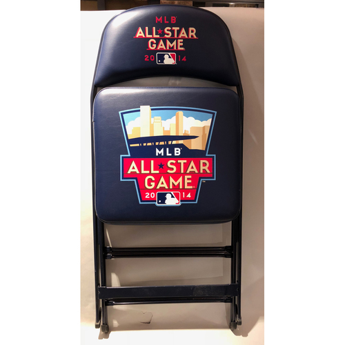 Photo of 2014 All Star Game Home Run Derby Clubhouse Chair - Autographed by Nelson Cruz