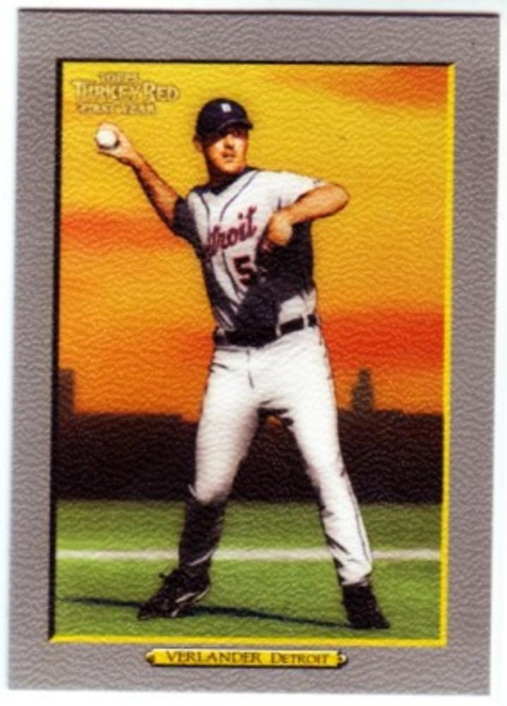 2005 Topps Turkey Red #272 Justin Verlander Rookie Card