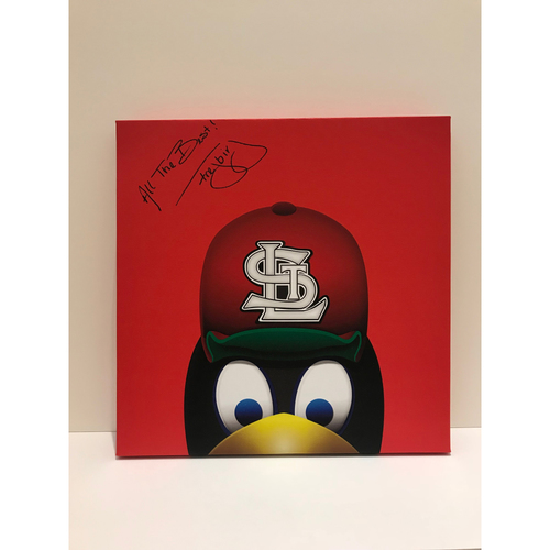 Photo of Autographed Fredbird Canvas Print - Cardinals