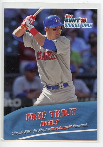 Photo of 2016 Topps Bunt Unique Unis #UU10 Mike Trout