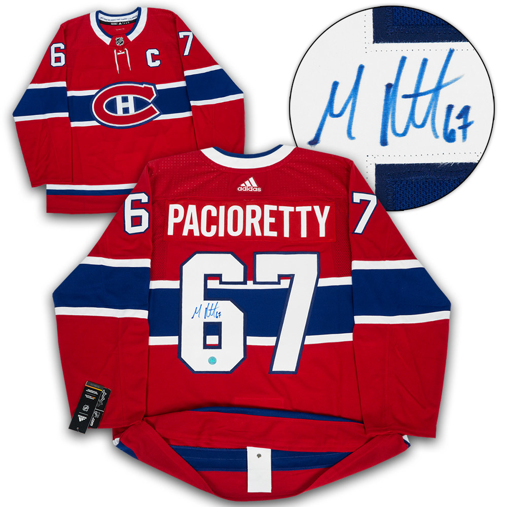 newest 92e55 1173c Max Pacioretty Montreal Canadiens Autographed Adidas ...