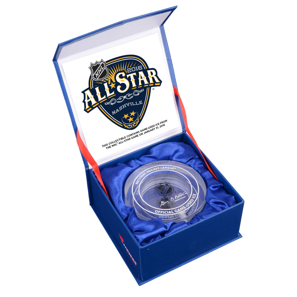 2016 NHL All-Star Game Crystal Puck - Filled With Ice From The 2016 NHL All-Star Game