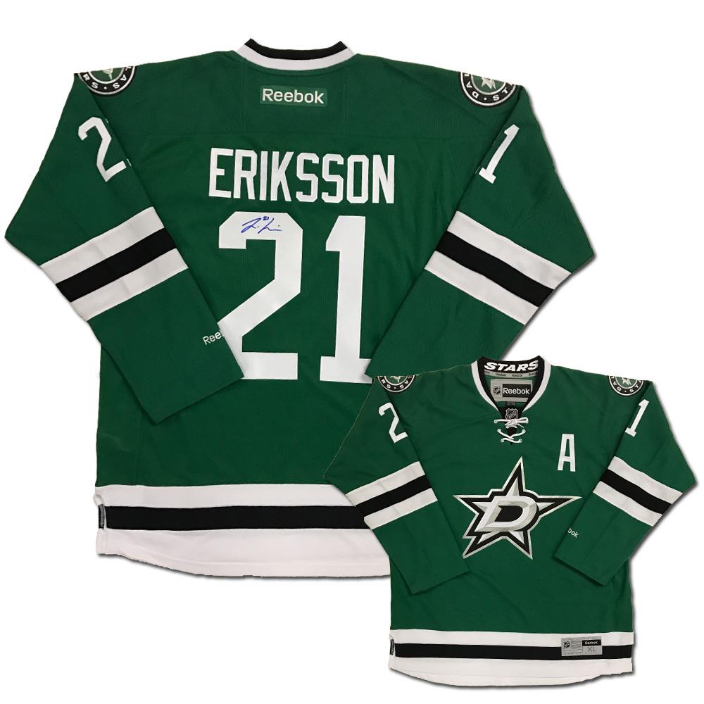 LOUI ERIKSSON Signed Dallas Stars Green Reebok Jersey
