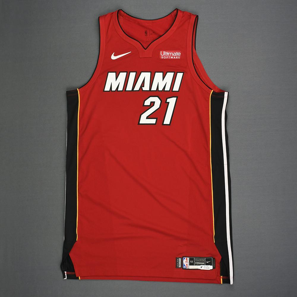 Hassan Whiteside - Miami Heat - Kia NBA Tip-Off 2018 - Game-Worn Statement Edition Jersey - Double-Double