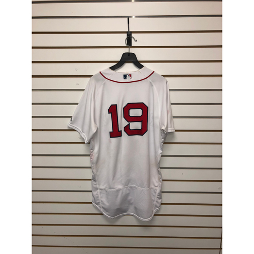 Photo of Jackie Bradley Jr Game-Used August 16, 2017 home Jersey
