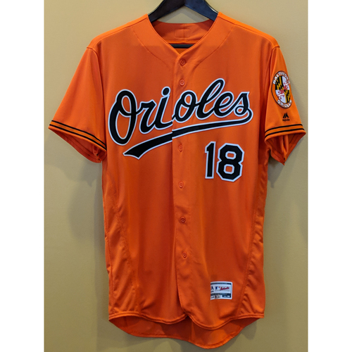Photo of Austin Hays - Orange Alternate Jersey: Team-Issued (46)