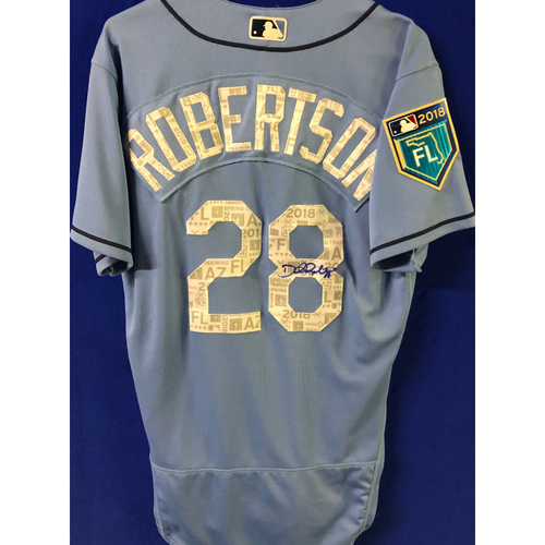 Photo of 2018 Spring Training Team-Issued Autographed Jersey: Daniel Robertson
