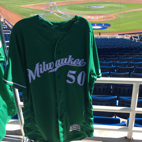Photo of Jacob Barnes 2018 Team-Issued St. Patrick's Day Jersey